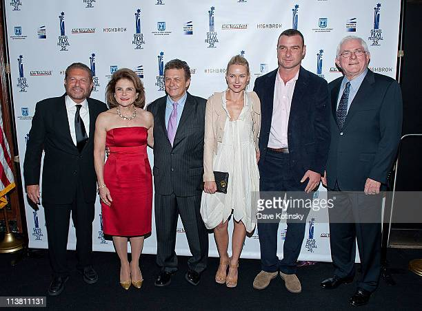 Mike Burstyn Tova Feldshuh Meir Fenigstein Naomi Watts Liev Schreiber and Phil Donahue attend the 25th Israel Film Festival at The Plaza Hotel on May...