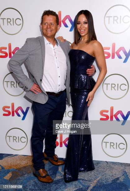 Mike Bushell and Katya Jones attend the TRIC Awards 2020 at The Grosvenor House Hotel on March 10 2020 in London England