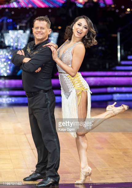 Mike Bushell and Katya Jones during the Strictly Come Dancing Arena Tour 2020 photocall at Arena Birmingham on January 15 2020 in Birmingham England