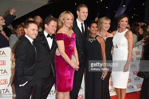Mike Bushell Charlie Stayt Louise Minchin Dan Walker Naga Munchetty Carol Kirkwood and Sally Nugent attend the National Television Awards on January...
