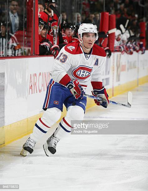 Mike Cammalleri of the Montreal Canadiens skates against the Ottawa Senators at Scotiabank Place on December 8 2009 in Ottawa Ontario Canada
