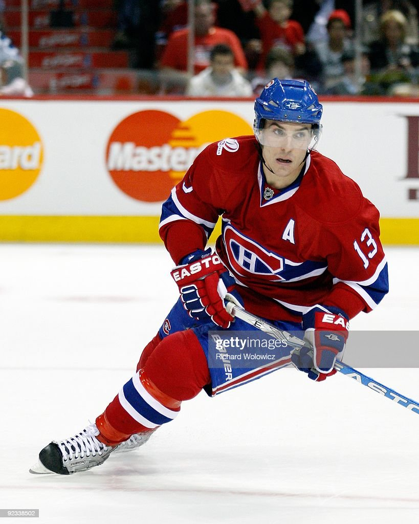 Mike Cammalleri #13 of the Montreal Canadiens skates during the NHL game  against the New