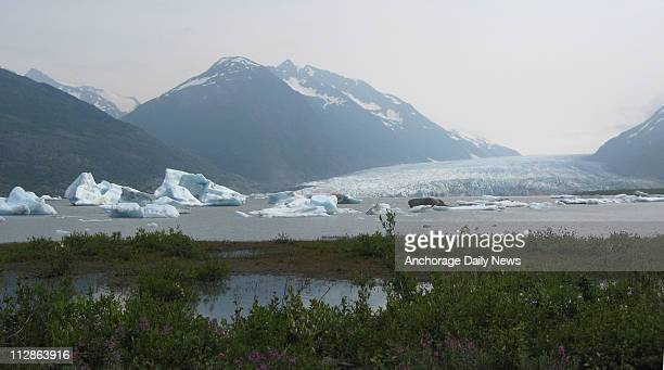 Mike Campbell / Anchorage Daily News A view of Spencer Glacier and Spencer Lake dotted with icebergs.