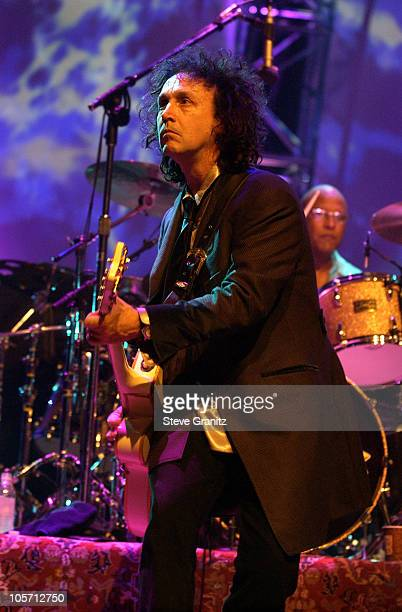 Mike Campbell during Tom Petty and the Heartbreakers Tour 2002 Los Angeles at The Forum in Los Angeles California United States