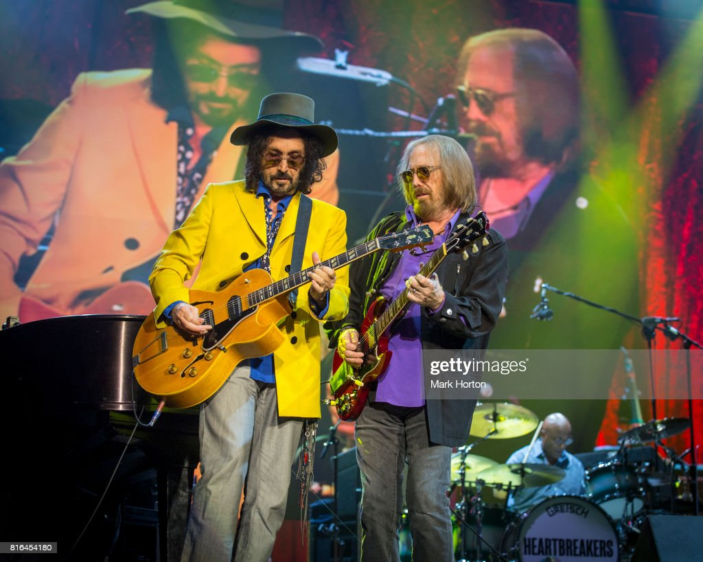 Mike Campbell, Tom Petty and Steve Ferrone of Tom Petty And The Heartbreakers perform on Day 10 of the RBC Bluesfest on July 16, 2017 in Ottawa, Canada.