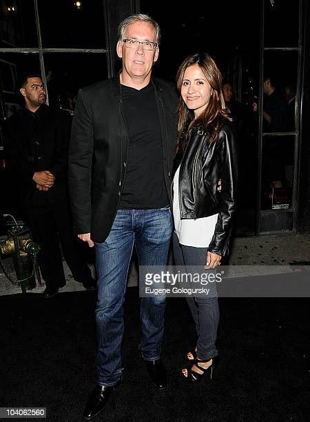 Mike Capace and Antonella Capace attend the John Varvatos 10th anniversary with launch of Original MOONSHINE Clear Whiskey at John Varvatos Bowery...