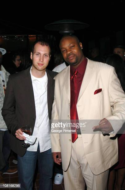 Mike Caren and Rawle Sewart during Atlantic Records at Warner Music Group 2005 After GRAMMY Awards Party at Pacific Design Center in Los Angeles,...