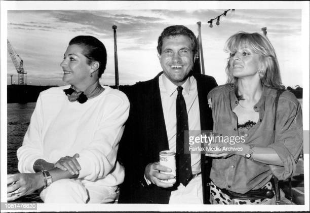 Mike Carlton's 40th Birthday Party on the harbour Maggie Taberer Peter Simpson and wife Kathy March 1 1986