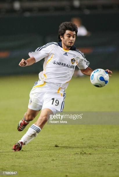 Mike Caso of the Los Angeles Galaxy during the celebrity soccer match against Hollywood United FC at Home Depot Center on November 4 2007 in Carson...
