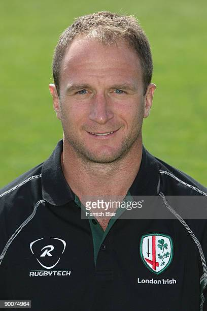 Mike Catt the Attack Coach of London Irish poses for a portrait during the London Irish squad photo call at Sunbury Upon Thames on August 25 2009 in...