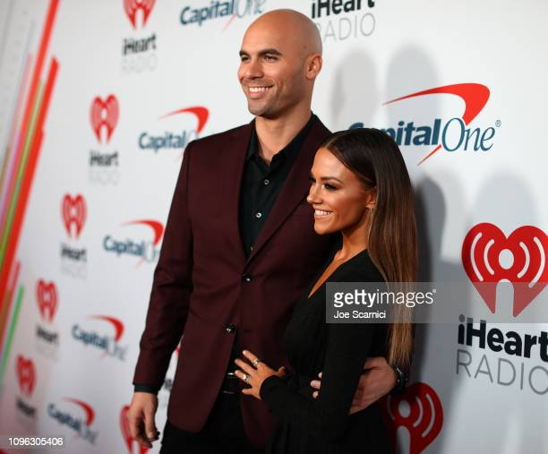 Mike Caussin and Jana Kramer arrive at the 2019 iHeartRadio Podcast Awards Presented by Capital One at the iHeartRadio Theater LA on January 18 2019...