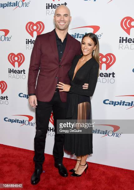 Mike Caussin and Jana Kramer arrive at the iHeartRadio Podcast Awards Presented By Capital One at iHeartRadio Theater on January 18 2019 in Burbank...