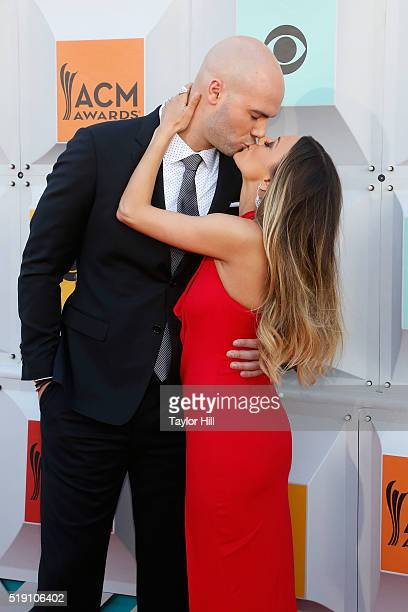 Mike Caussin and Jana Kramer attend the 51st Academy of Country Music Awards at MGM Grand Garden Arena on April 3 2016 in Las Vegas Nevada