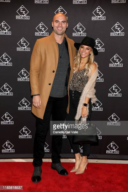 Mike Caussin and Jana Kramer attend the grand opening of E3 Chophouse Nashville on November 20 2019 in Nashville Tennessee