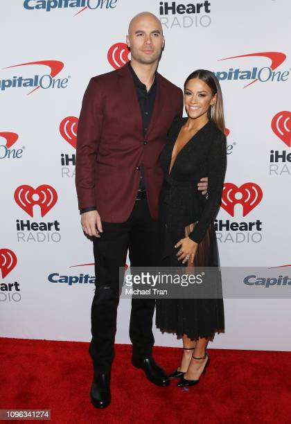 Mike Caussin and Jana Kramer attend the iHeartRadio Podcast Awards held at iHeartRadio Theater on January 18 2019 in Burbank California