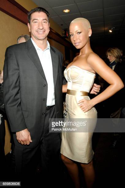 Mike Chico and Amber Rose attend THE CINEMA SOCIETY BROOKS BROTHERS host a screening of ME AND ORSON WELLES at Chelsea Cinemas on November 23 2009 in...