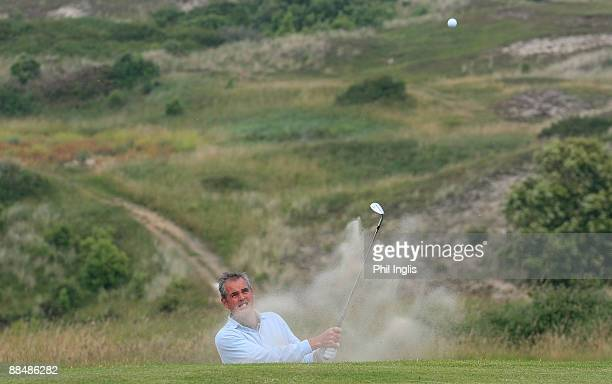 Mike Clayton of Australia in action during the final round of the Jersey Seniors Classic played at La Moye Golf Club on June 14 2009 in StHelier...