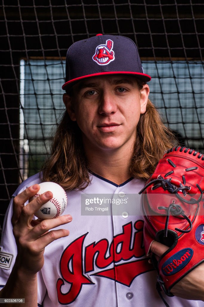 Mike Clevenger of the Cleveland Indians poses for a portrait at the Cleveland Indians Player Development Complex on February 21, 2018 in Goodyear, Arizona.