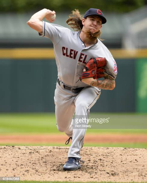 Mike Clevinger of the Cleveland Indians pitches against the Chicago White Sox on June 14 2018 at Guaranteed Rate Field in Chicago Illinois