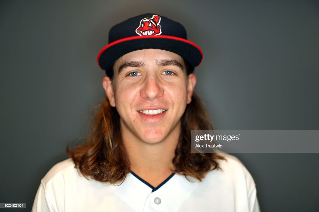 Mike Clevinger #52 of the Cleveland Indians poses during Photo Day on Wednesday, February 21, 2018 at Goodyear Ballpark in Goodyear, Arizona.