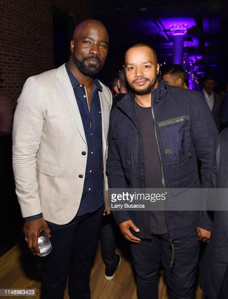 Mike Colter and Donald Faison attend the Entertainment Weekly PEOPLE New York Upfronts Party on May 13 2019 in New York City