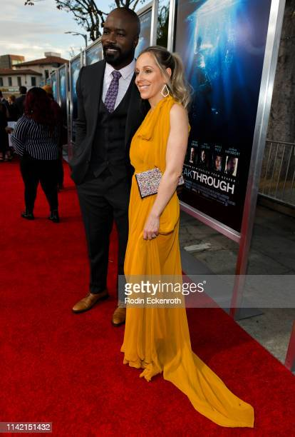 Mike Colter and Iva Colter attend the premiere of 20th Century Fox's Breakthrough at Westwood Regency Theater on April 11 2019 in Los Angeles...
