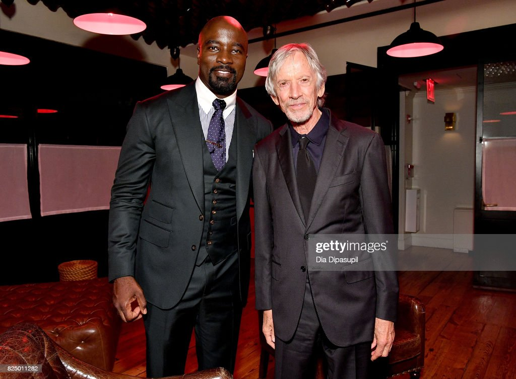 Mike Colter and Scott Glenn attend the 'Marvel's The Defenders' New York Premiere - After Party at The Standard Biergarten on July 31, 2017 in New York City.