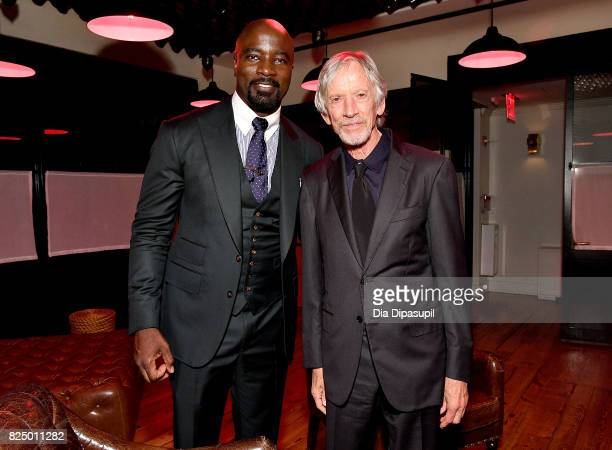 Mike Colter and Scott Glenn attend the Marvel's The Defenders New York Premiere After Party at The Standard Biergarten on July 31 2017 in New York...