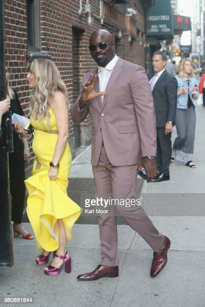 """Mike Colter and wife Iva Colter arrive at the Ed Sullivan Theater for a taping of """"The Late Show With Stephen Colbert"""" on June 21, 2018 in New York..."""