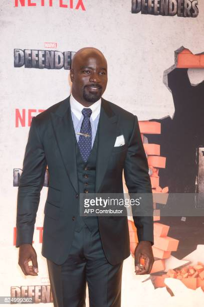 Mike Colter arrives for the Netflix premiere of Marvel's 'The Defenders' on July 31 2017 in New York / AFP PHOTO / Bryan R Smith