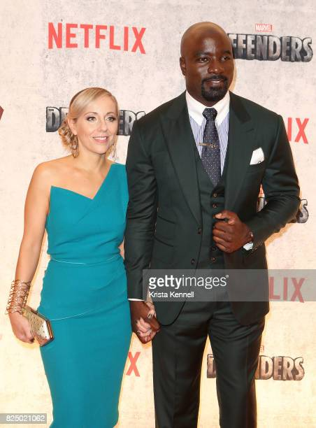 Mike Colter arrives to Marvel's The Defenders New York Premiere at Tribeca Performing Arts Center on July 31 2017 in New York City