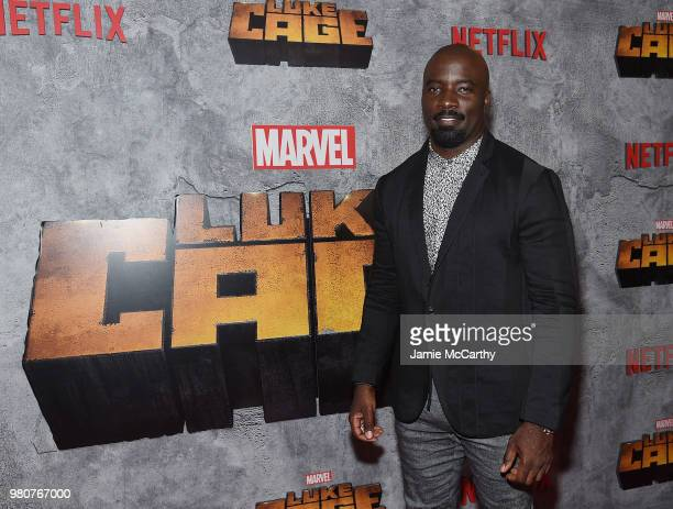 Mike Colter attends the 'Luke Cage' Season 2 premiere at The Edison Ballroom on June 21 2018 in New York City
