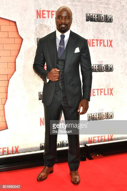 Mike Colter attends the Marvel's The Defenders New York Premiere at Tribeca Performing Arts Center on July 31 2017 in New York City