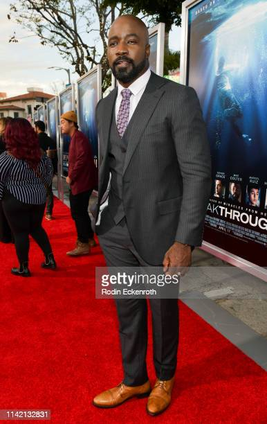 Mike Colter attends the premiere of 20th Century Fox's Breakthrough at Westwood Regency Theater on April 11 2019 in Los Angeles California