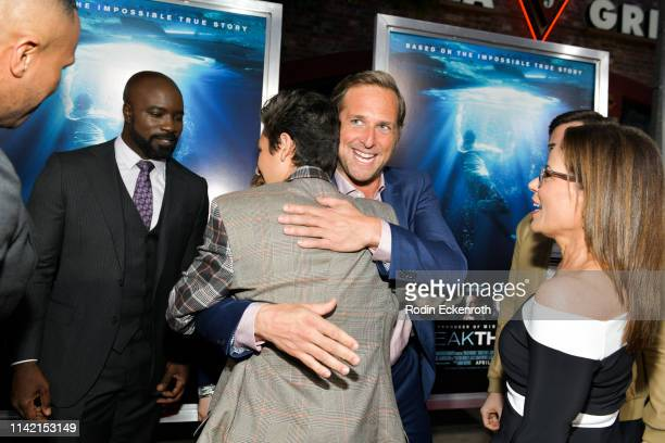Mike Colter Marcel Ruiz Josh Lucas and Roxann Dawson attend the premiere of 20th Century Fox's Breakthrough at Westwood Regency Theater on April 11...