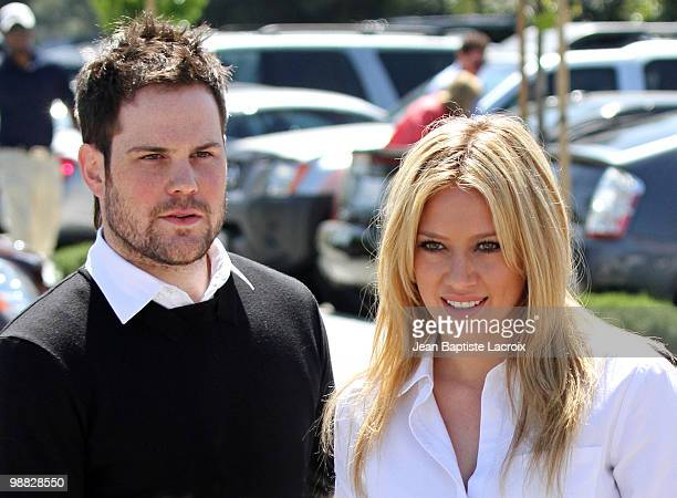 Mike Comrie and Hilary Duff are seen in Toluca Lake on May 3 2010 in Los Angeles California