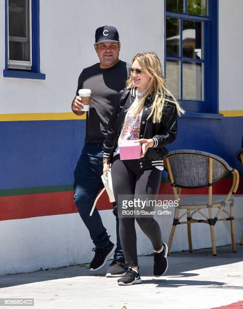 Mike Comrie and Hilary Duff are seen on July 03 2017 in Los Angeles California