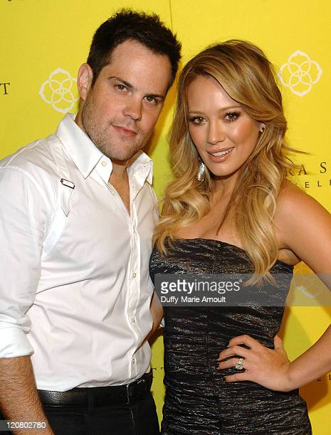 Mike Comrie and Hilary Duff attend Grand Opening of Kendra Scott Jewelry's Beverly Hills Store at Andaz on August 10 2011 in West Hollywood California