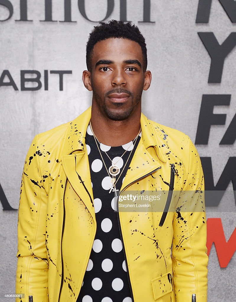 Mike Conley attends New York Men's Fashion Week kick off party hosted by Amazon Fashion and CFDA at Amazon Imaging Studio on July 13, 2015 in Brooklyn, New York.