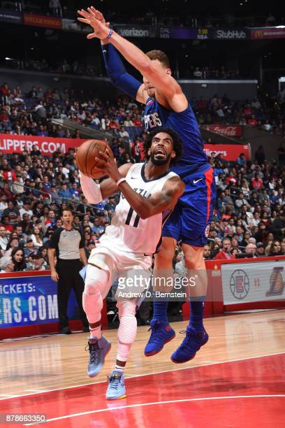 Mike Conley of the Memphis Grizzlies drives to the basket against the LA Clippers on November 4 2017 at STAPLES Center in Los Angeles California NOTE...