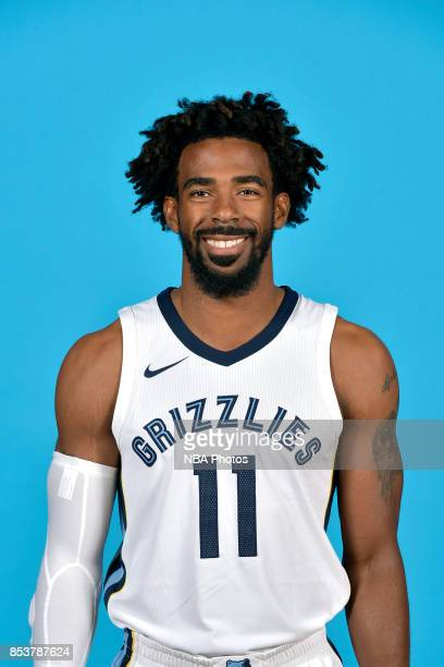 Mike Conley of the Memphis Grizzlies poses for a head shot during Media Day on September 25 2017 at FedExForum in Memphis Tennessee NOTE TO USER User...