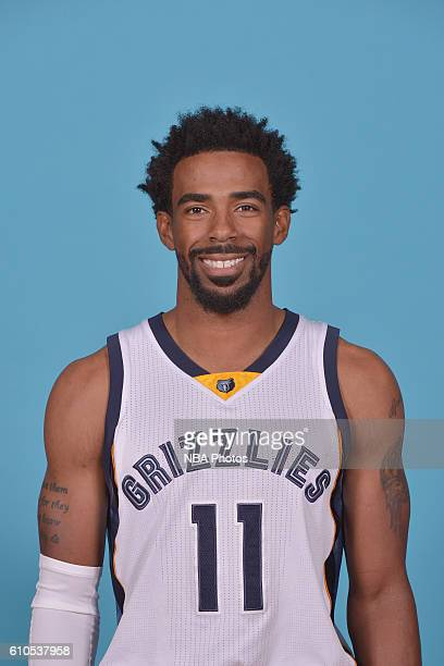 Mike Conley of the Memphis Grizzlies poses for a head shot during the 20162017 Memphis Grizzlies Media Day on September 26 2016 at FedExForum in...