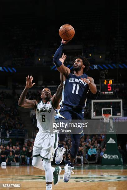 Mike Conley of the Memphis Grizzlies shoots the ball against the Milwaukee Bucks on November 13 2017 at the BMO Harris Bradley Center in Milwaukee...