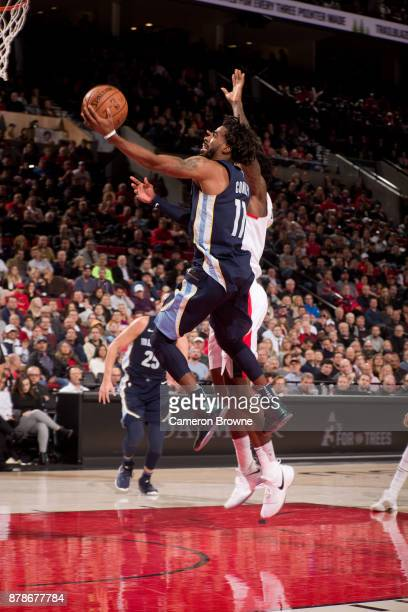 Mike Conley of the Memphis Grizzlies shoots the ball against the Portland Trail Blazers on November 7 2017 at the Moda Center Arena in Portland...