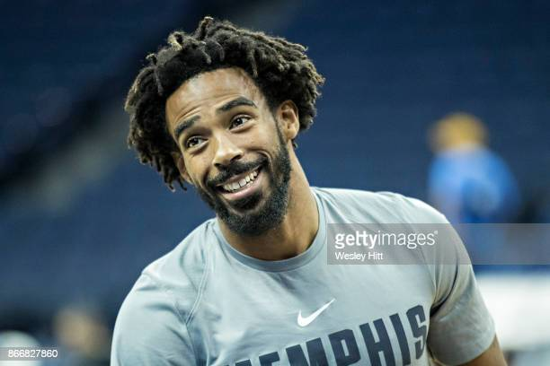 Mike Conley of the Memphis Grizzlies warming up before a game against the Dallas Mavericks at the FedEx Forum on October 26 2017 in Memphis Tennessee...