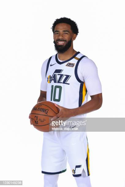 Mike Conley of the Utah Jazz pose for portraits during content day at vivint.SmartHome Arena on December 14, 2020 in Salt Lake City, Utah. NOTE TO...