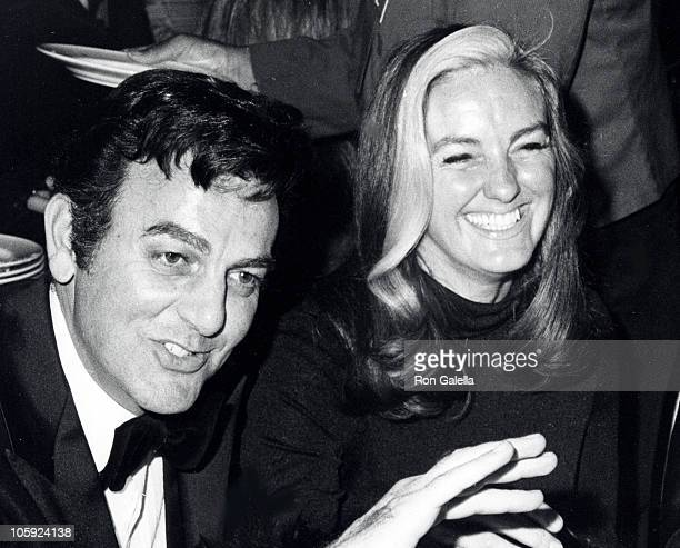 Mike Connors and Marylou Connors during 29th Annual Golden Globe Awards at Hilton Hotel in Beverly Hills California United States