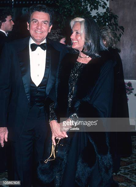 Mike Connors and Marylou Connors during AFI Life Achievement Awards Honoring Gene Kelly at Beverly Hilton Hotel in Beverly Hills CA United States