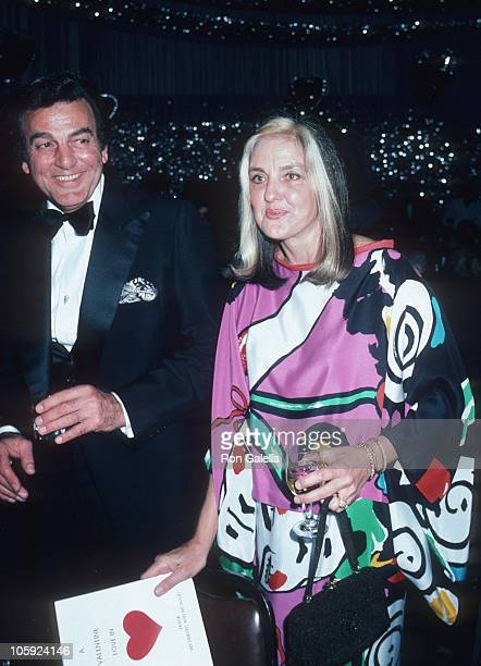 Mike Connors and Marylou Connors during Frank Sinatra's Gala His Friends and His Food February 15 1980 at Canyon Hotel in Palm Springs California...