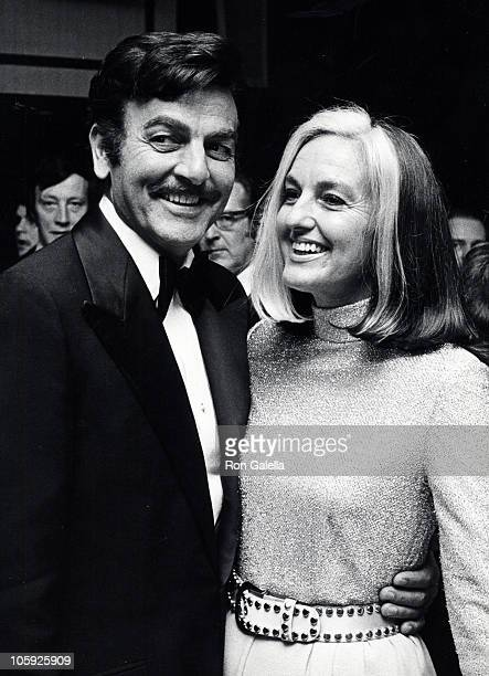 Mike Connors and Marylou Connors during Salute to Sir Lew Grade April 18 1975 at New York Hilton Hotel in New York City New York United States